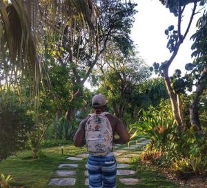 2 degrees, gainfully employed ass nigga wearing a backpack in some man made hippie forest. Who he scarin?
