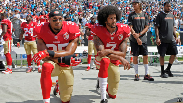 We'd love to have first downs and QB that perfectly fits the system...but we have to wrap ourselves in all this racism masked as patriotism