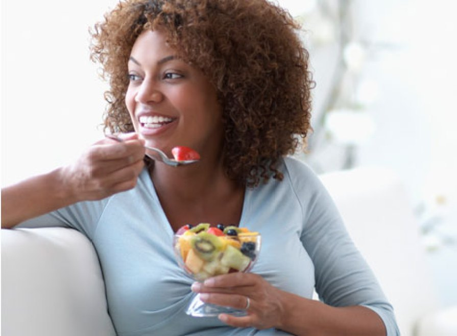 """""""After this fruit salad I'll get just a breast piece with extra ketchup. #Health #FitLife #HealthyChoices #IneThatFat"""""""