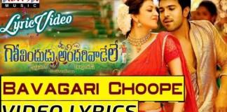 Bavagari Choope Song Lyrics
