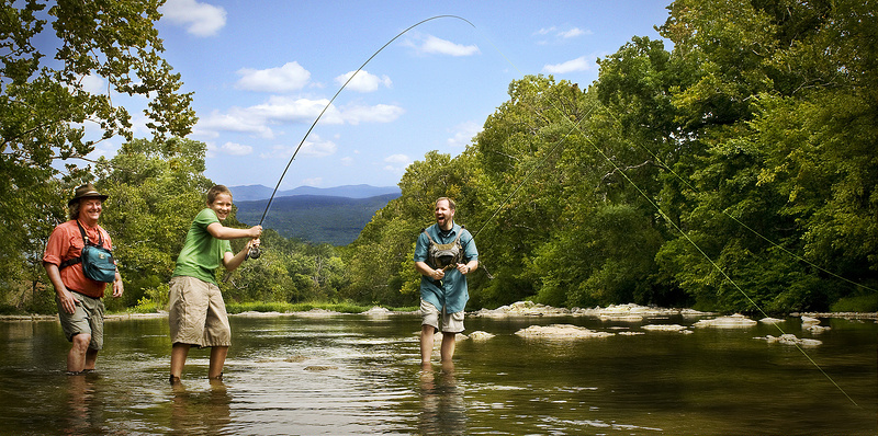fishing with spinning reels