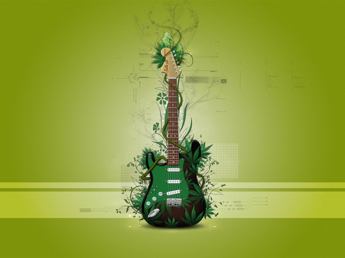 Cute Fruit Wallpapers Music Guitar Creative Graphic Design Wallpapers Preview