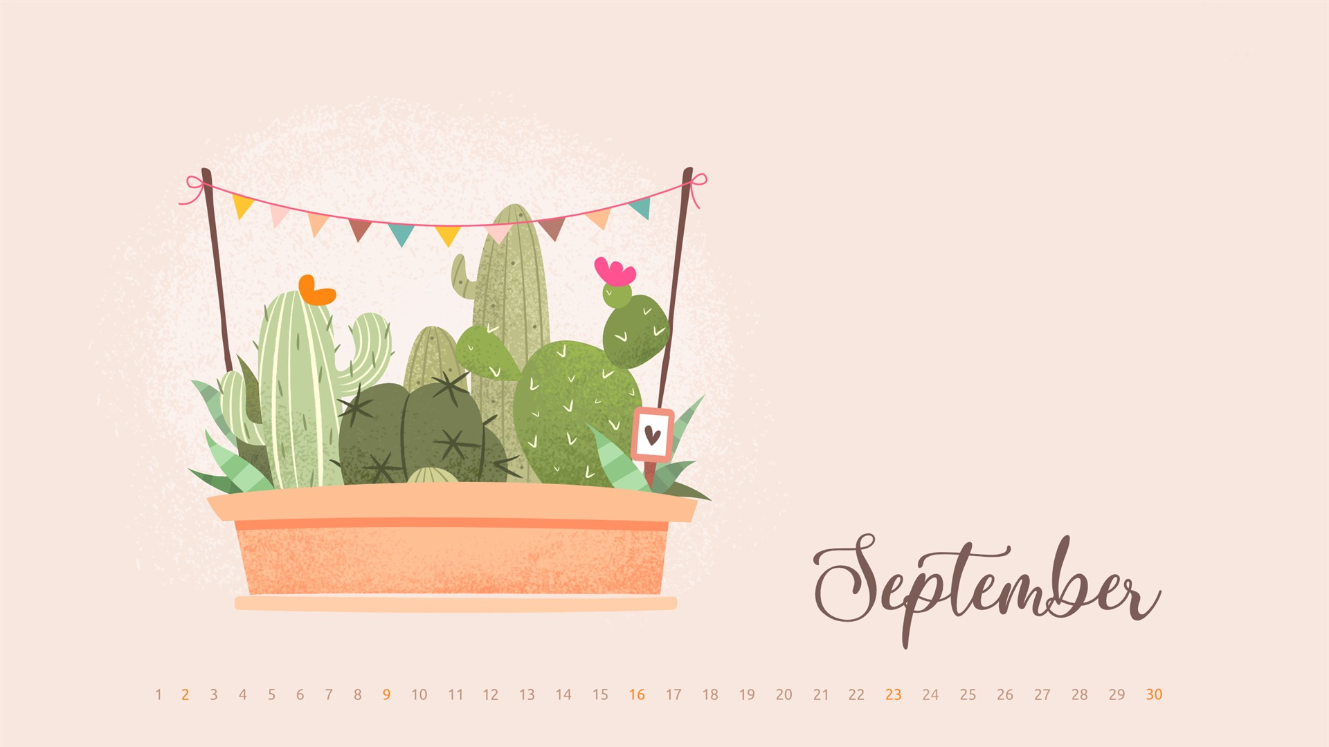 Cacti Everywhere September 2018 Calendars Preview