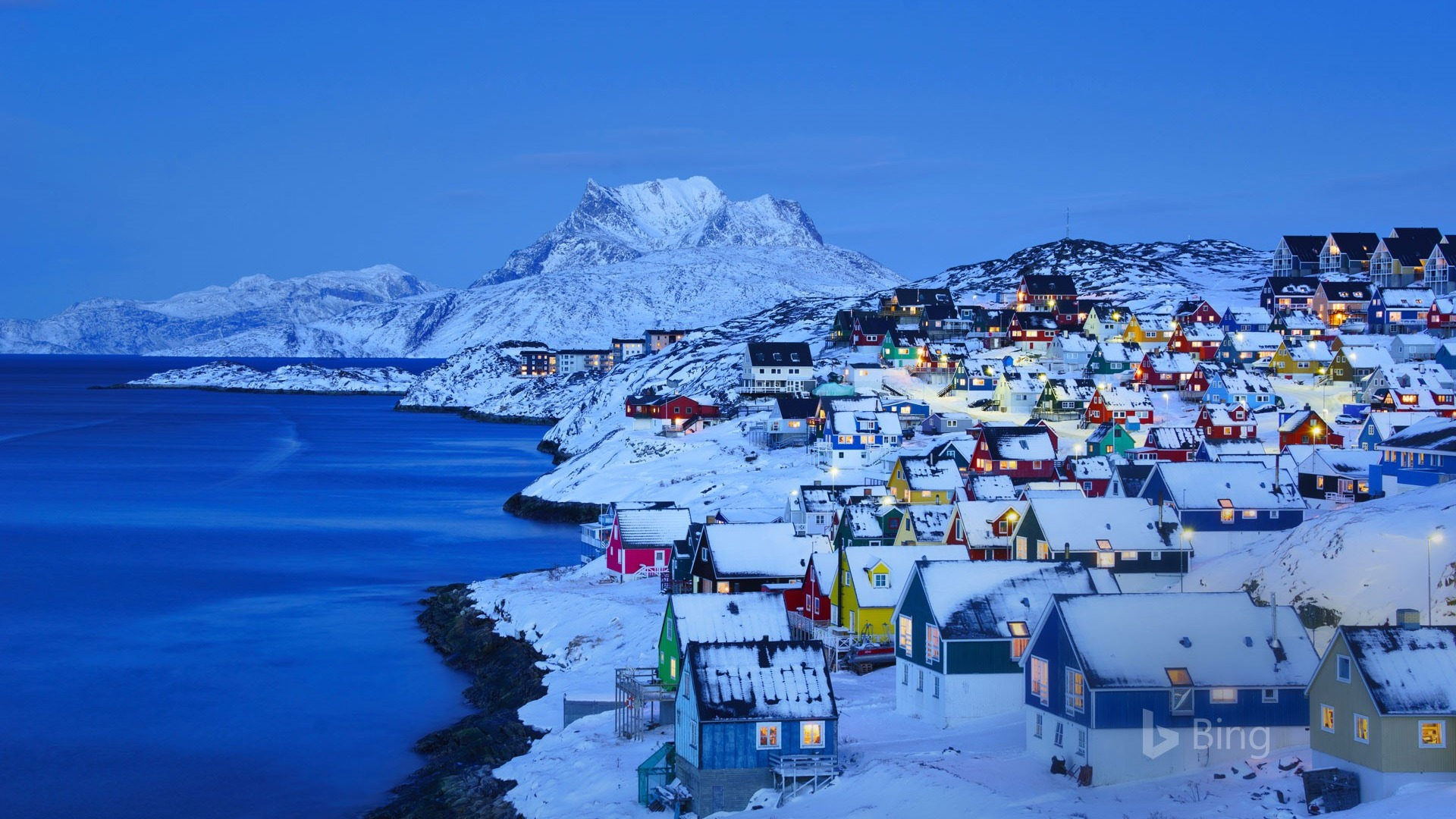 Iphone X Official Wallpaper Hd Old Nuuk In Nuuk Greenland 2019 Bing Wallpaper Preview
