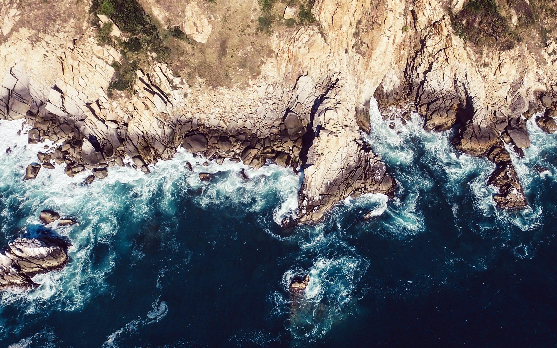 Mac Os X Iphone Wallpaper 岛,海岸,蓝色,海洋,2018,苹果,ios 12预览 10wallpaper Com
