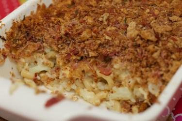 Macaroni met bloemkool en kaas schotel 1