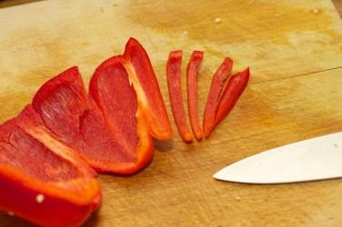 Paprika fijn snijden 3