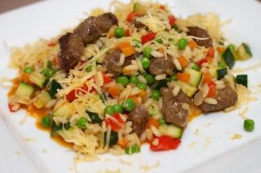 Risotto met Chipolata en veel groente 27