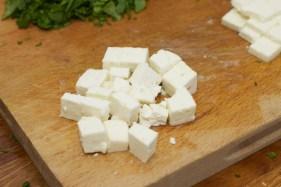 Spinazie risotto met asperges gewikkeld in Seranoham 37