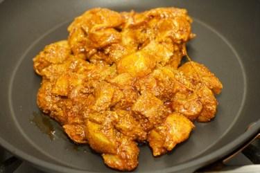Stokbrood met kip en gele curry 30