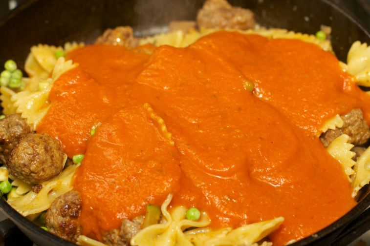 Pasta met tomatensaus 70