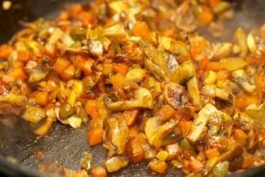 Pasta met vegetarische Ragu 34