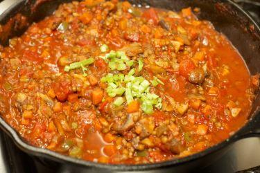 Pasta met vegetarische Ragu 48