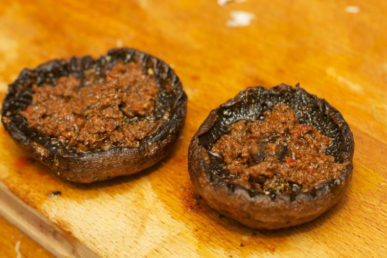 Pasta met gegrilde pompoen en portobello 5