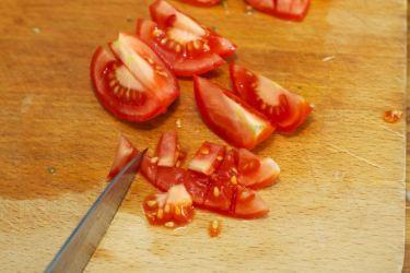 Snijbieten-stamppot met groente-jus en worstje 16