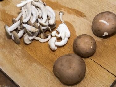 Romige pasta met prei, champignons en spekjes (6 van 40)