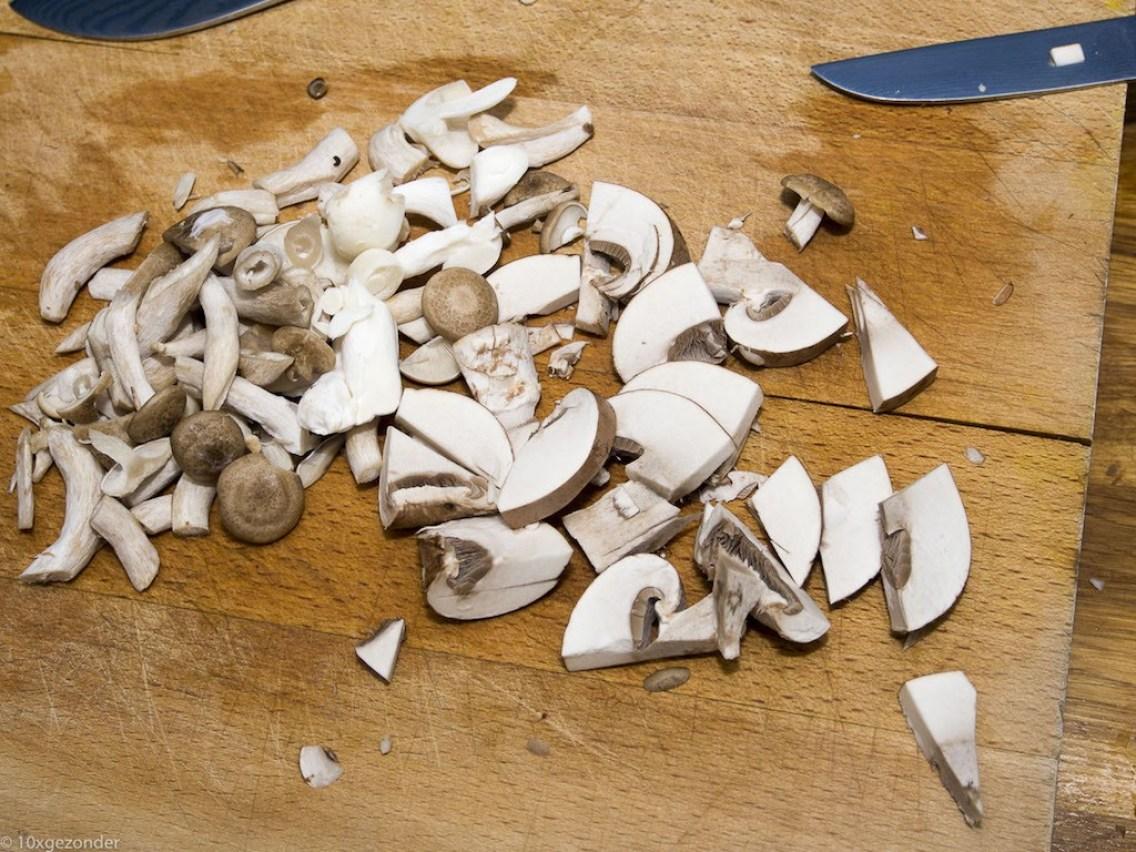 Romige pasta met prei, champignons en spekjes (8 van 40)