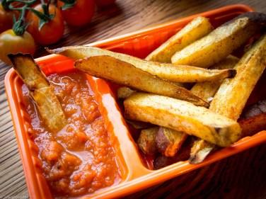 Zoete aardappel friet uit de oven-11