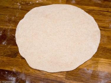 Pizza pesto met champignons en rode ui-20