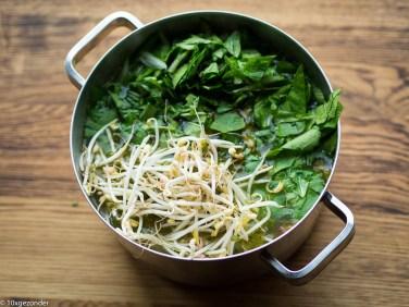 Aziatische groentesoep met kip-16