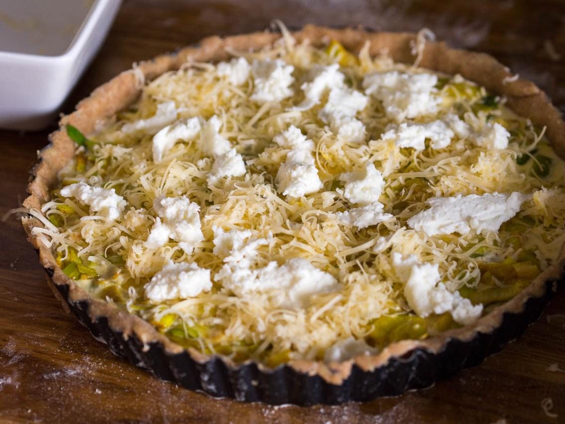 Recept hartige taart- Preitaart met makreel-12
