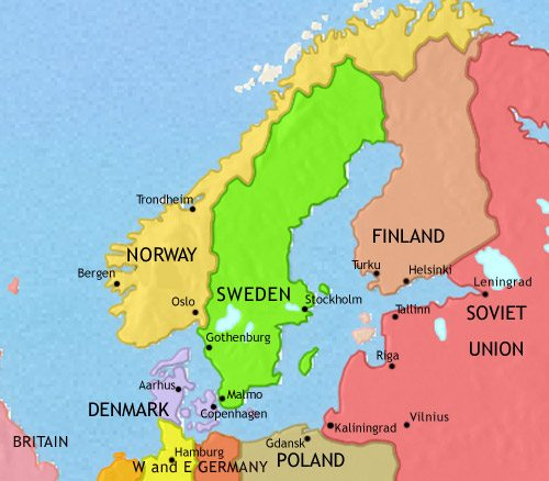 Map Of Scandinavia At 750ad Timemaps