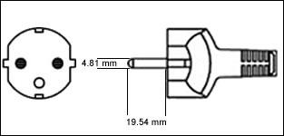 Terminate a Type E & F Electrical AC Male 16 amps Schuko