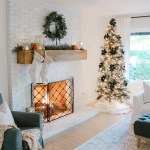 Modern Farmhouse Christmas Living Room With Navy Copper Rose Gold 1111 Light Lane