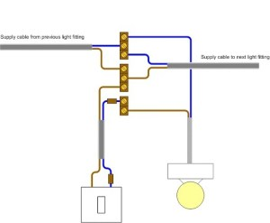 Electrical handyman Light fitting loop wiring to switch