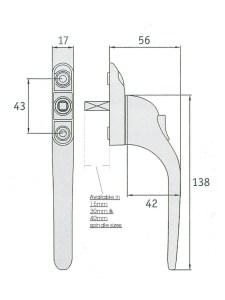 upvc window lock measure diagram