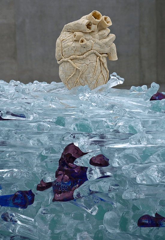 The future merciful heart for men and women, detail. Photo: Markus Tretter ©Jan Fabre/VBK, Wien, 2008, Kunsthaus Bregenz