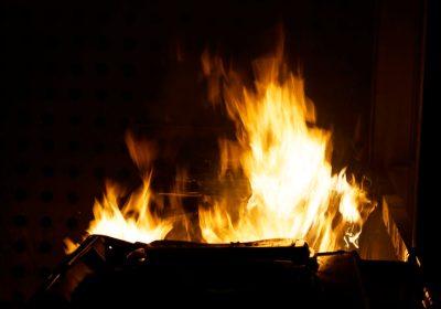 Container, brand, flammer, ild, ildspåsættelse, påsat