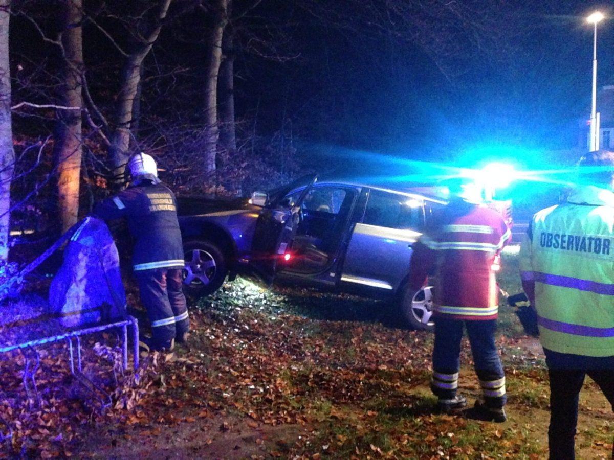 Voldsom ulykke på vestmotorvejen ved Slagelse.