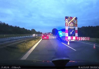 Bilbrand på E20 fynske motorvej