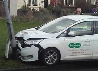 Ongeval auto specsavers