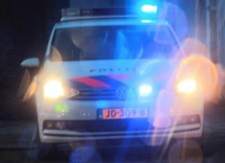 Politie met blauw onderweg