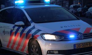 Politieauto blauw blauw ter plaatsen bij een incident