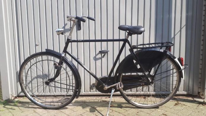 De fiets van de dader bleef achter