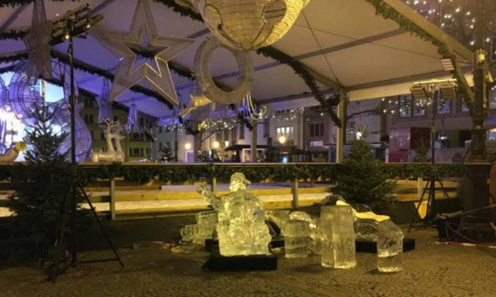 Kind overleden bij ongeluk met ijssculptuur op kerstmarkt Luxemburg.