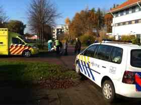 Hulpdiensten ter plaatse op de Volkerakweg in Hoorn