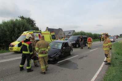 Hulpdiensten massal ter plaatse bij het ongeval