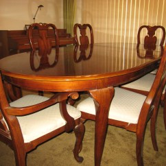 Dining Table Set 6 Chairs Berlin Gardens Adirondack Chair Rich Mahogany With Six And