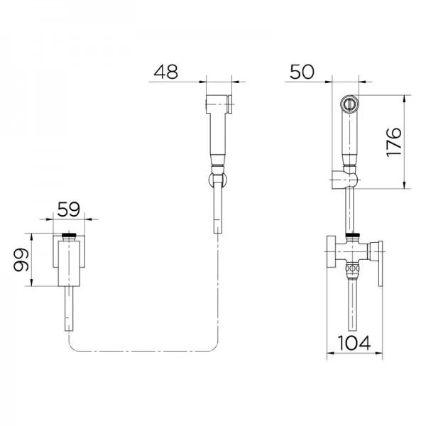 Ducha Higiênica Docol New Edge 925669 com Flexível de 1,20m