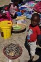 Little boy at open market