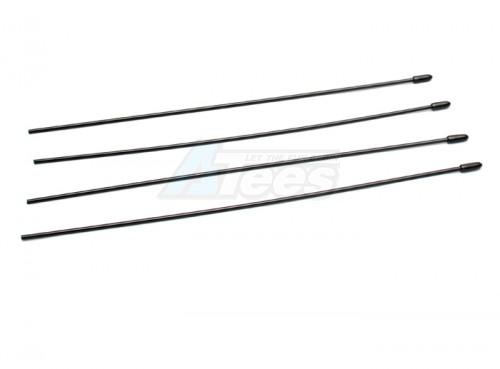 Speedmind Universal Antenna Tube W/Cover 4Pcs Black SM/GW047BK
