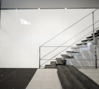 """Back-Painted Glass in """"Brilliant White"""" 