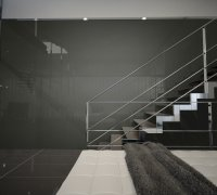"""Back-Painted Glass in """"Charcoal Grey"""" 