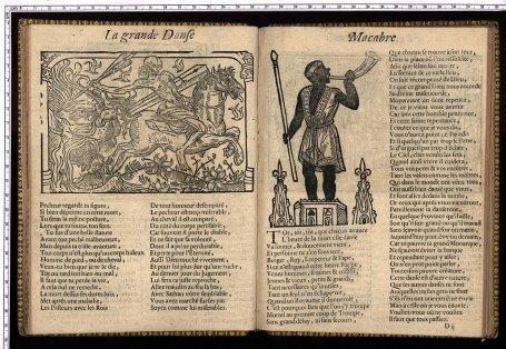 La grande danse macabre, Troyes, Jacques Oudot, vers 1700, cote Bbl 665, Médiathèque du Grand Troyes, photo P. Jacquinot