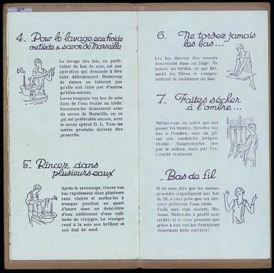 Les 7 secrets de Martine pour faire durer les bas, établissements Doué et Lamotte, Troyes, vers 1930, pp. 7-8. Médiathèque du Grand Troyes. Photo: Eric Bord