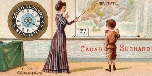 Cacao Suchard. Géographie. Image chromolithographique. Médiathèque du Grand Troyes. Photo: E. Bord